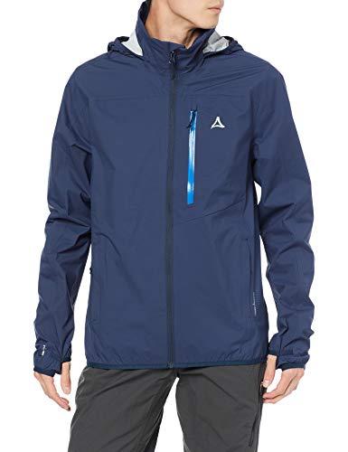 Schöffel Herren Jacket Toronto4 wind- und wasserdichte Herren Jacke mit verstaubarer Kapuze, atmungsaktive und verstaubare Hardshelljacke für Männer , dress blues, 48
