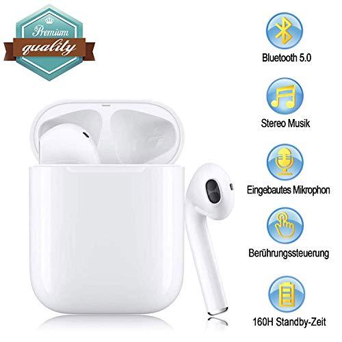 Bluetooth-Kopfhörer,kabellose Touch-Kopfhörer HiFi-Kopfhörer In-Ear-Kopfhörer Rauschunterdrückungskopfhörer,Tragbare Sport-Bluetooth-Funkkopfhörer,Für Apple Airpods Android/iPhone/Samsung