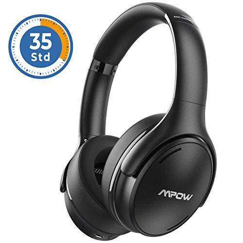 Noise Cancelling Kopfhörer, Mpow [2020 Version] Bluetooth 5.0 Kabellos Kopfhörer Over Ear mit 35 Std, Schnellladen Mikrofon CVC 8.0, HiFi & Weiche Ohrenschützer, ANC Kopfhörer für Mobiltelefone/TV