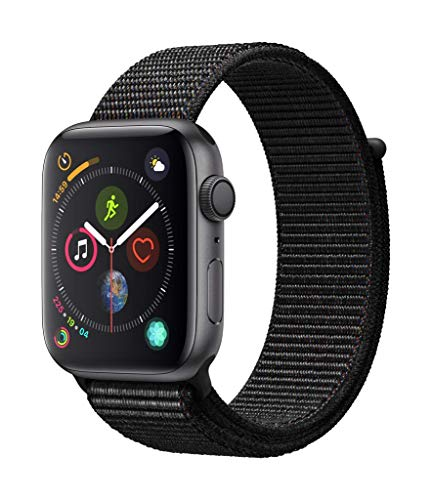 Apple Watch Series 4 (GPS, 44mm) Aluminiumgehäuse Space Grau - Sport Loop Schwarz