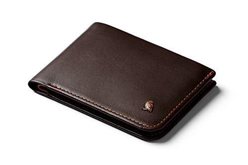 Bellroy Hide & Seek Wallet, Schlanke Faltbare Leder Brieftasche mit RFID-Schutz und Geheimfach (Max. 12 Karten, Bargeld, Münzfach) - Java