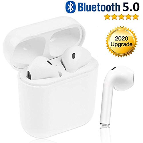 Bluetooth 5.0 Wireless Headphones,Touch Headphones with Microphone, Automatic Pairing, Waterproof Stereo HIFI Stereo Headphones for iPhone/Samsung/Apple/Airpod