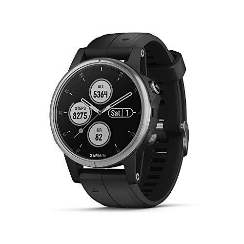 Garmin fenix 5S Plus Schwarz Multisport-Smartwatch – Europakarte, Musikplayer, kontaktloses Bezahlen