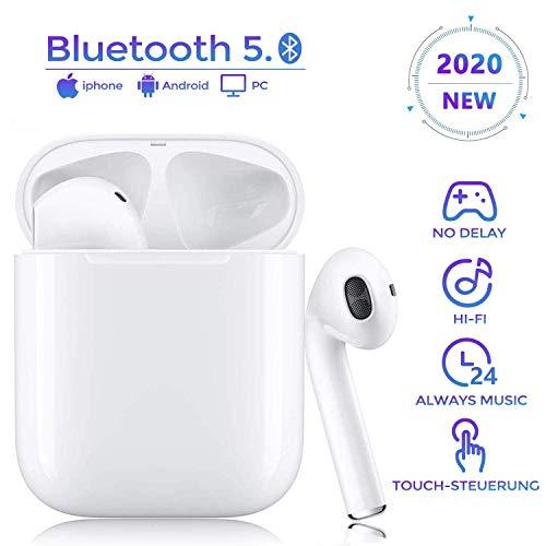 Wireless Kopfhörer Bluetooth 5.0 Kopfhörer, HD 3D-Stereo, wasserdichtes Sport-Headset mit Rauschunterdrückung Fenster mit Echtzeitanzeige, kompatibel mit Apple Airpods Android/AirPods Pro/iPhone