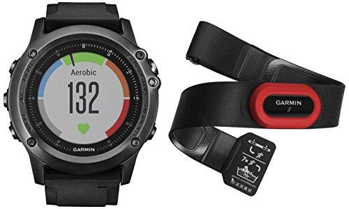 Garmin fēnix 3 HR Saphir GPS-Multisportuhr, Herzfrequenzmessung am Handgelenk, zahlreiche Sport- und Navigationsfunktionen, inkl. Herzfrequenz-Brustgurt, 1,2 Zoll (3 cm), 010-01338-74