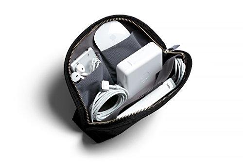 Bellroy Classic Pouch, Mäppchen, Stiftemappe, Tasche, Leder und Stoff (für Stifte, Kabel, Kosmetik, Scheren, Kopfhörer, Radiergummis) Black