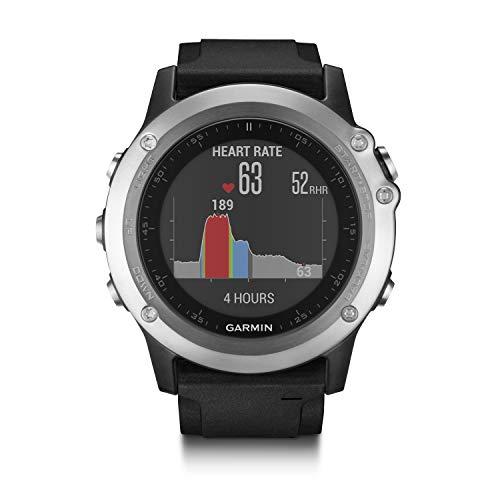 Garmin fenix 3 HR GPS-Multisport, Smartwatch, Herzfrequenzmessung am Handgelenk, zahlreiche Navigations- und Sportfunktionen, GPS/GLONASS, 010-01338-77