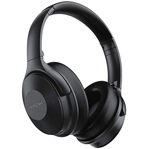 Active Noise Cancelling Kopfhörer, 45 Std Laufzeit und Schnellladen, Mpow Bluetooth Kopfhörer Over Ear, ANC Kopfhörer mit 40mm HiFi Deep Bass Sound, Kabellose Kopfhörer mit Mikrofon für Telefon TV PC