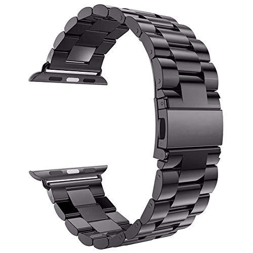 Arktis Armband kompatibel mit Apple Watch 38 mm und 40 mm, Edelstahl Wechselarmband Ersatzarmband inkl. Glieder-Kürzer - Space Grey