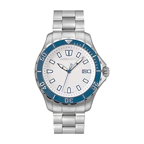 ASSARTO Watches ASH-9610 BLU Klassiche Taucheruhr mit Schweizer Uhrwerk und Saphirglas, Herrenuhr, Luxusuhr, Sportuhr, Quarzuhr, Damenuhr, Edelstahluhr, Armbanduhr, Uhr