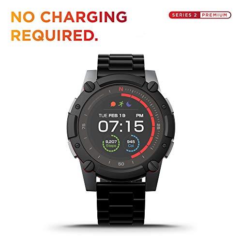 PowerWatch 2 Premium Edition - Smartwatch, Sportuhr inkl. Leistungsmessung, Null-Ladezustand, Solar- und Wärmeleistung, Aufladung über Körperwärme