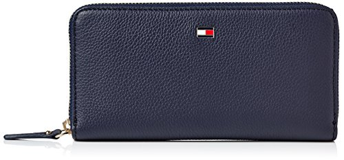 Tommy Hilfiger Damen Basic Leather Lrg Za Wallet Geldbörse, Blau (Tommy Navy), 2x11x11 cm
