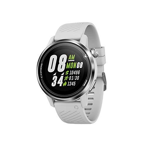 COROS APEX Premium Multisport GPS-Uhr 42 mm mit Herzfrequenzmesser, 25-Stunden-GPS-Vollbatterie, Saphirglas, Barometer, ANT + & BLE-Anschlüssen, Strava & TrainingPeaks (Weiß)