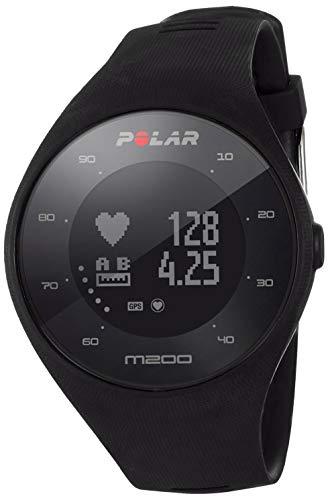 Polar Unisex– Erwachsene M200 Laufuhr, schwarz, M/L