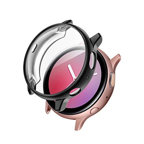 CAVN Hülle Kompatibel mit Samsung Galaxy Watch Active 2 40mm Schutzhülle Schutzfolie [1-Stück], Flexibles TPU Vollschutz Displayschutzfolie Kratzfest Displayschutz Schutz Hülle (Passt Nicht 44mm)
