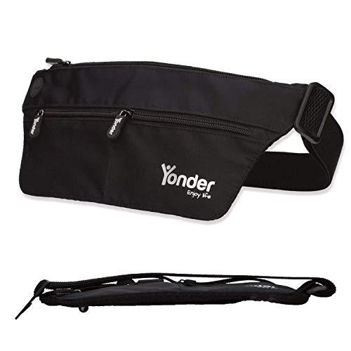 Yonder® Premium Bauchtasche | Mit Sicherheitsverschluss + RFID Block | Ultra sicher + extra flach + wasserfest | Geldgürtel für Damen und Herren