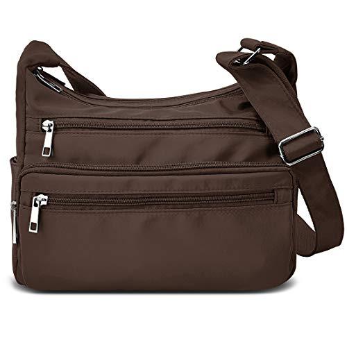 VOLGANIK ROCK Umhängetasche Damen Groß Kapazität RFID Handtasche Leichte Nylon Schultertasche Tasche Damen Reisetasche Einkaufstasche