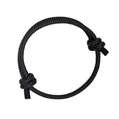 Wind Passion Höchste Qualität Schwarz Geflochtene Seil Armband für Männer