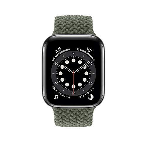 InvokerTech Braided Armband Kompatibel für Apple Watch 44/42mm 40/38mm, Gewebtes Solo Loop Ersatzarmbänder Kompatibel mit iWatch Series 6/5/4/3/2/1/SE (Inverness Grün, 40/38mm - L)