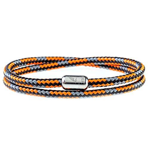 Wind Passion Armband Orange Paracord Nautic mit Edelstahl Magnetverschluss für Männer und Frauen, Größe Medium