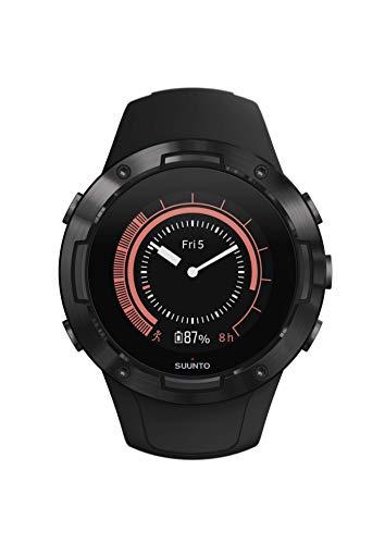 Suunto 5 Unisex-GPS-Multisportuhr für Erwachsene, Mineralglas, Edelstahl/Silikon, schwarz