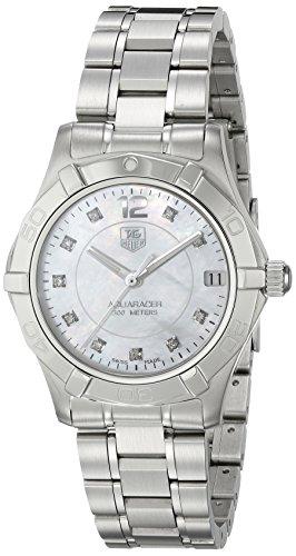 TAG Heuer Damen Analog Quarz Uhr mit Edelstahl Armband WAF1312.BA0817
