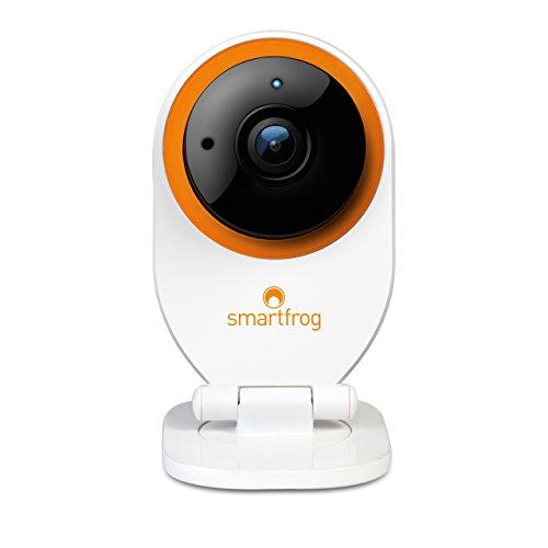 Smartfrog WLAN IP Kamera, Überwachungskamera innen mit App; Geräuscherkennung; Nachtsichtfunktion; Bewegungserkennung; Alarmfunktion; Zwei-Wege-Audio; kostenlose Cloud; Babyphone mit Kamera