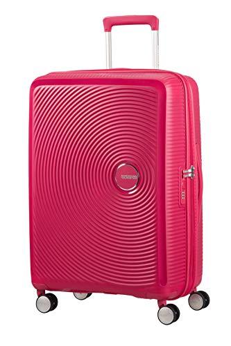 American Tourister Soundbox - Spinner M Erweiterbar Koffer, 67 cm, 81 L, Rosa (Lightning Pink)