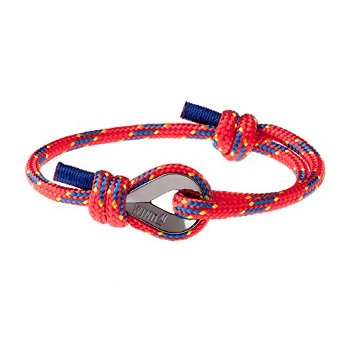 Wind Passion Rot Geprüfte Qualität Segeltau Nautic Maritim Herren Armband