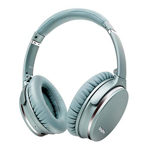 Hybrid Active Noise Cancelling Kopfhörer,Faltbar,Kabellos,Bluetooth 5.0,Srhythm NC35 Over-Ear mit USB-C Schnellladung,CVC8.0-Mikrofon,Sprachanruf,40+ Std. Spielzeit für iOS Android TV PC (Minzgrün)