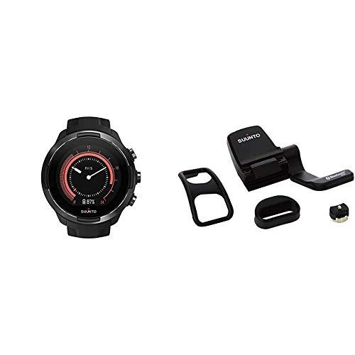 SUUNTO 9 BARO & Fahrrad-Sensor mit Distanz-, Geschwindigkeits- und Trittfrequenzmesser, Kompatibel mit Sportuhren und Apps mit Bluetooth Smart und ANT+ Unterstützung, Schwarz, SS022477000