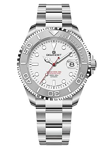 Gigandet Herren-Automatikuhr Ocean King - Made in Germany - Saphirglas - Swiss Super Luminova - Edelstahl - 300m/30bar wasserdicht - G404-001M