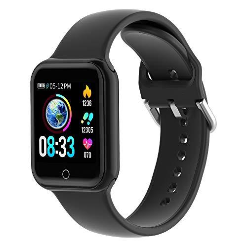 KUNGIX Smartwatch, Smart Watch mit Blutdruckmessung IP68 Wasserdicht Fitness Uhr Mit Pulsmesser Schrittzähler