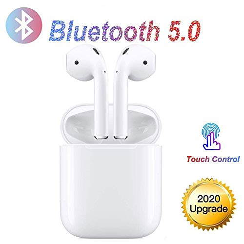 Bluetooth Kopfhörer,Weiß Drahtloses Touch-Bluetooth Noise-Cancelling-Kopfhörer, binaurale In-Ear-Sportohrhörer, Popup-Fenster mit Echtzeit-Display, kompatibel mit Apple Airpods Android/iPhone