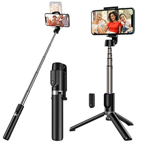 Yoozon Selfie Stick Stativ mit Fernbedienung, 360°Rotation 3 in 1 Wireless Selfie Stange Monopod kabellos kompakt kompatibel mit iPhone Android Samsung 3,5-6 Zoll Smartphones