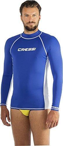 Cressi Herren Rash Guard, Protection Solaire UV (UPF) 50+, Blau (Königsblau/Weiß), Gr. XL/5