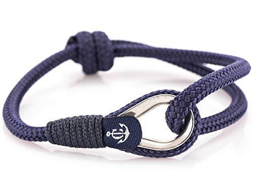 CONSTANTIN NAUTICS SAIL WITH US Maritimes Armband aus Segeltau, handgemacht, für Damen und Herren, von Länge verstellbar CNB #74