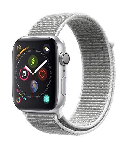 Apple Watch Series 4 (GPS, 44mm) Aluminiumgehäuse Silber - Sport Loop Muschel
