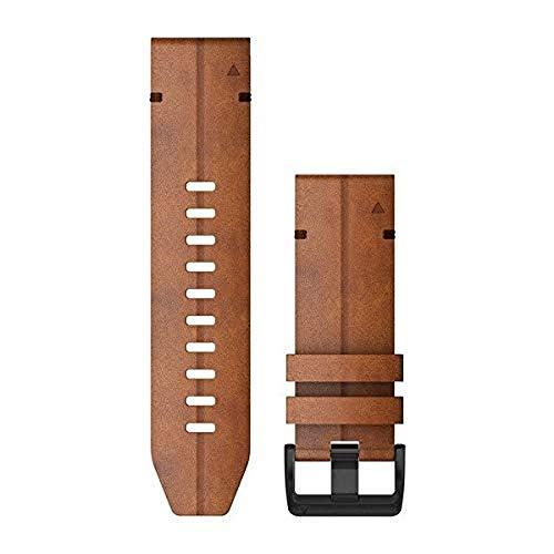 QUICKFIT-Leder-Armband 26mm Braun Schnalle in Schiefergrau für Fenix 6X 010-12864-05