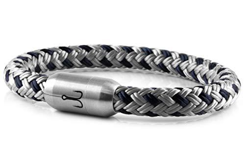Fischers Fritze® Segeltau Armband MAKRELE 2.0' Silbergrau Marineblau, 19.0