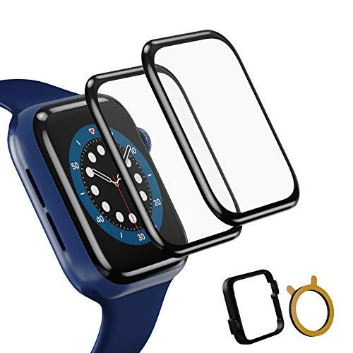TOPACE 2 Stück Schutzfolie kompatibel mit Apple Watch Series 6/SE/5/4 44mm Folie,3D-Vollabdeckung weiche Kante HD TPU Clear Anti-Scratch Displayschutzfolie kompatibel mit Apple iWatch 44mm