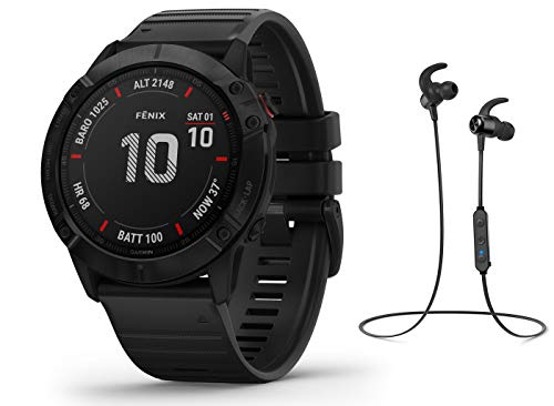 Garmin Fenix 6X PRO - GPS Multisportuhr - schwarz inkl. Bluetooth Headset
