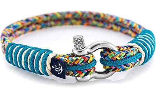 Maritimes Armband aus Segeltau von Constantin Nautics, handgemacht, Geschenkidee für Damen und Herren CNB #819 19 cm