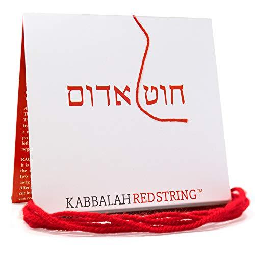 Der ORIGINAL Kabbalah String aus Israel RED STRING Kabbalah Armband Pack - 150 CM Red String für bis zu sieben Evil Eye Protection Armbänder - Gebet, Segen und Anleitung enthalten!
