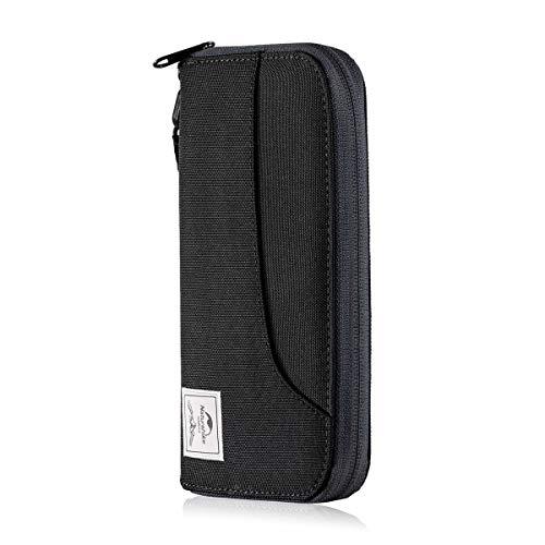 Naturehike Multifunktionale RFID-Reisebrieftasche Ultraleichte Protable Reisetasche für Dokumente Kreditkarten NH18X020-B (Black)