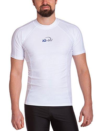 iQ-UV Herren UV 300 Slim Fit Kurzarm T-Shirt, weiß (weiß), XL (54)