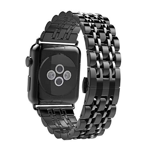 Armband Kompatibel für Apple Watch Armband 42mm 44mm, iWatch Uhrenarmband Prämie Edelstahl Metall Ersatz Ersatzarmband Armband für Apple Watch Series 6/5/4/3/2/1 Alle Modelle