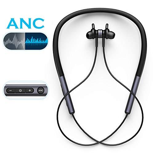 Bluetooth 5.0 Kopfhörer in Ear Sport, Vogek ANC 28 dB reduziert Active Noise Cancelling Kopfhörer,13 Stunden Spielzeit, IPX6 Kabellos Sport Bluetooth Headset mit Mikrofon für iPhone,Samsung,Huawei