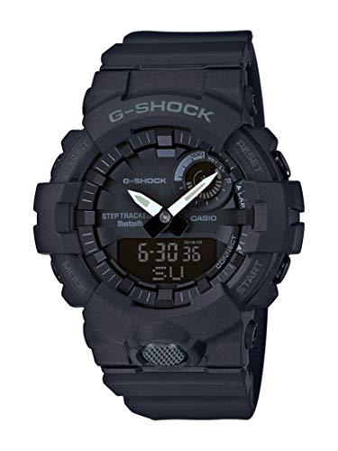 Casio G-Shock Analog-Digital Herrenarmbanduhr GBA-800 schwarz, Schrittzähler, Bewegungssensor, kostenlose Fitness-App zum Download, 20 BAR