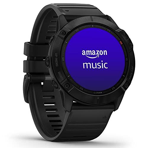 Garmin fenix 6X PRO – GPS-Multisport-Smartwatch mit 1,4 Display, vorinstallierten Europakarten, Garmin Music und Garmin Pay. Wasserdicht bis 10 ATM und bis zu 21 Tage Akkulaufzeit